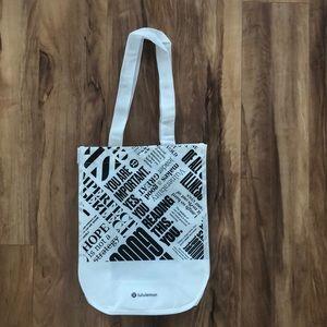 Lululemon white small reusable bag